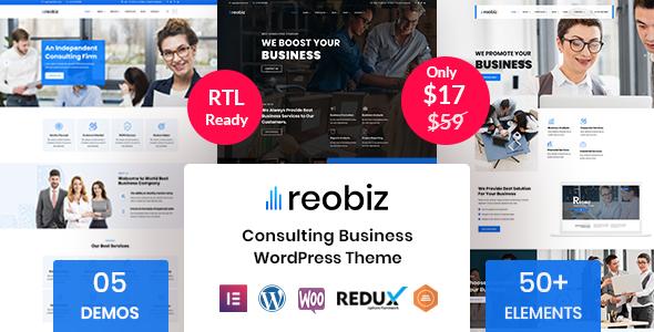 Reobiz – Consulting Business WordPress Theme Preview