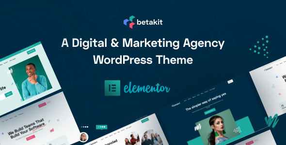 Betakit - Digital & Marketing Agency WordPress Theme + RTL