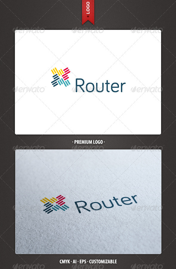 Router - Abstract Logo Template