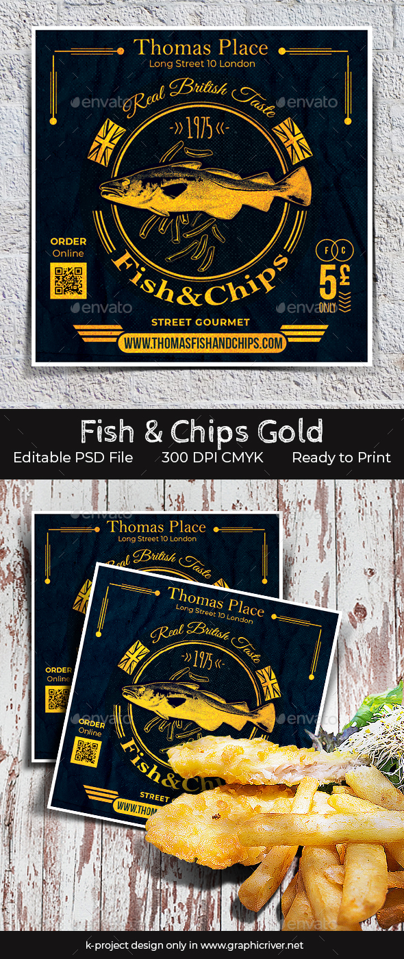 Fish and Chips Gold Flyer