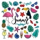 Big Set of Hand Drawn Cartoon Summer Symbols - GraphicRiver Item for Sale