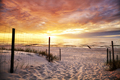 Beach entrance at a beautiful sunset. - PhotoDune Item for Sale