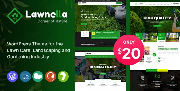 Lawnella – Gardening & Landscaping WordPress Theme Preview