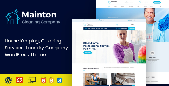 Mainton - Cleaning Services WordPress Theme