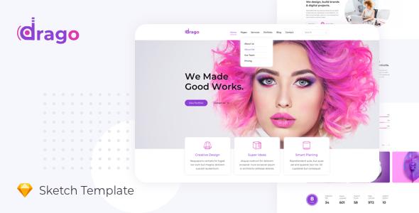 Drago — Creative and Digital Agency Sketch Template