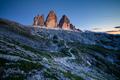 The Three Peaks of Lavaredo (Tre Cime di Lavaredo) at sunset, Dolomites mountains, Italy, Europe - PhotoDune Item for Sale