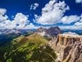 Aerial view of Sass Pordoi Mountain, Dolomites, Italy - PhotoDune Item for Sale