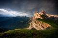 Seceda mountain peaks with rainbow,Suoth Tyrol, Dolomites, Italy,Europe - PhotoDune Item for Sale