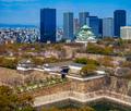 Osaka castle in cherry blossom season, Osaka, Japan - PhotoDune Item for Sale