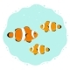 Underwater Scene with Cartoon Clown Fishes - GraphicRiver Item for Sale