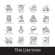 Delivery Service, Retail, Ecommerce Linear Icons - GraphicRiver Item for Sale