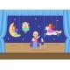 Child Character Play Young School Theatre Flat - GraphicRiver Item for Sale
