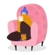 Woman Character Sitting Cozy Armchair - GraphicRiver Item for Sale