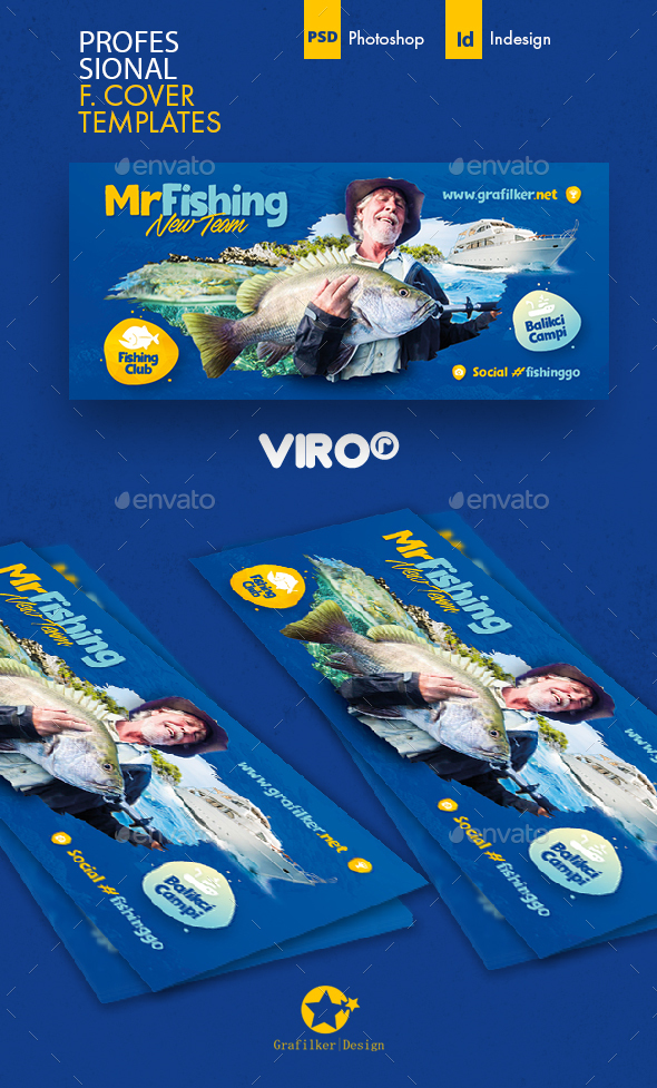 Fishing Cover Templates