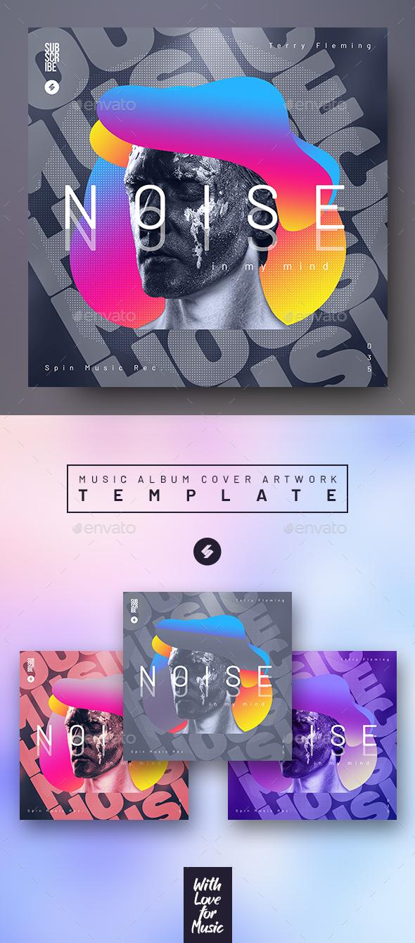Noise – Music Album Cover Artwork Template