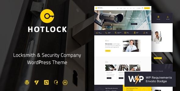 HotLock | Locksmith & Security Systems WordPress Theme