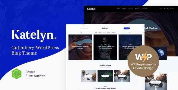 Katelyn | Creative Gutenberg Blog WordPress Theme