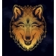 The Head of a Wolf. Dreamy Magic Art. Night - GraphicRiver Item for Sale