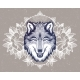 Portrait of a Wolf on a Background of Mountain - GraphicRiver Item for Sale
