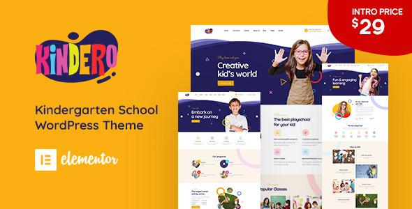 Kindero – Kindergarten School WordPress Theme Preview