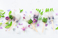 Ice Cream Decorated with Flowers - PhotoDune Item for Sale
