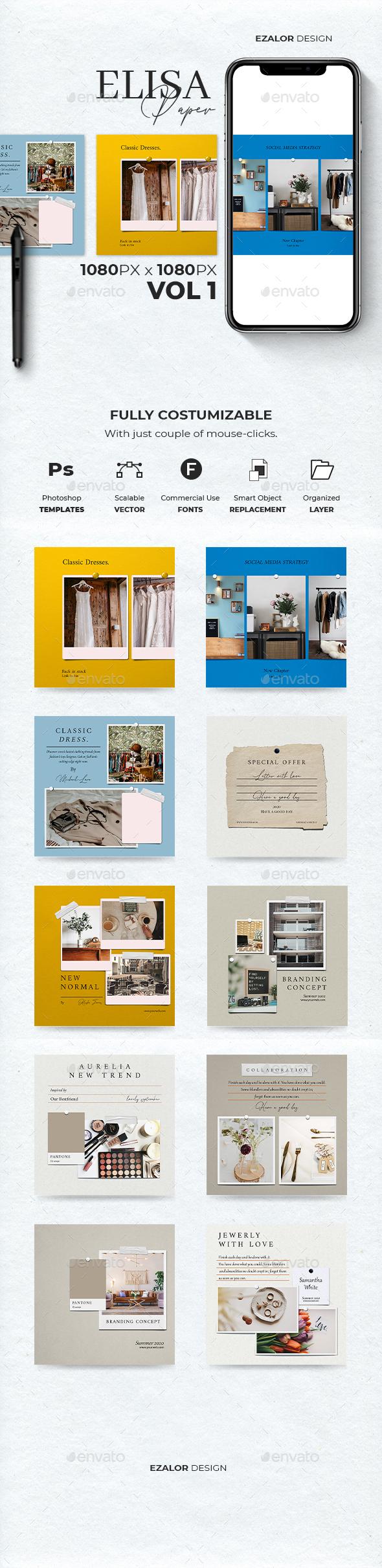 Elisa Paper Insta Post Vol 1