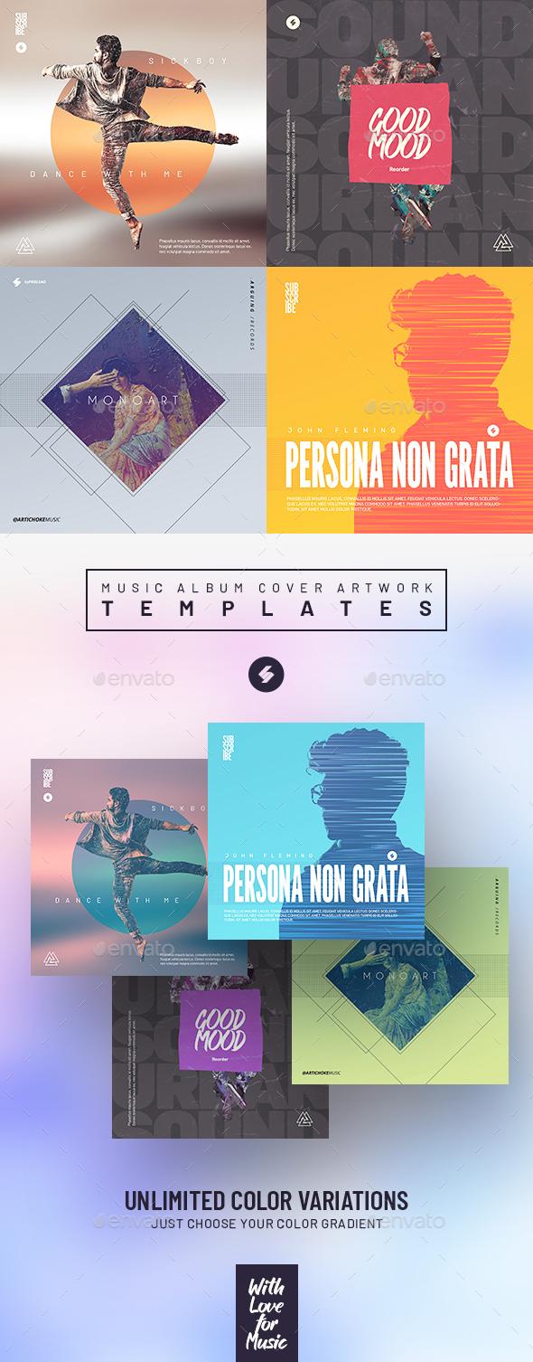 Music Album Cover Artwork Templates Bundle 32