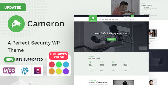 Cameron – Home Automation &  Security WordPress Theme  + RTL Preview