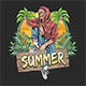 Skull Zombie Summer - GraphicRiver Item for Sale