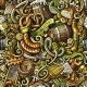 Cartoon Cute Doodles Octoberfest Seamless Pattern - GraphicRiver Item for Sale