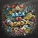 Cartoon Doodles Back To School Phrase - GraphicRiver Item for Sale