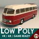 Low Poly Vintage Bus 02 - 3DOcean Item for Sale