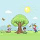 Children Walk in Nature - GraphicRiver Item for Sale