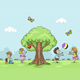 Playing Children - GraphicRiver Item for Sale