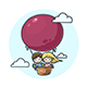 Couple in a Balloon - GraphicRiver Item for Sale