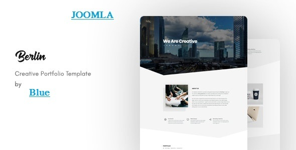 Download Berlin - OnePage Portfolio Joomla Template