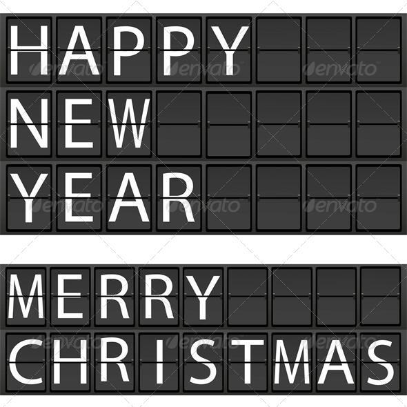 New Year's concept of an electronic scoreboard