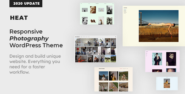 Heat - Responsive Photography WordPress Theme Download