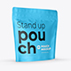 Stand-up Pouch Mockup (square) half side - GraphicRiver Item for Sale