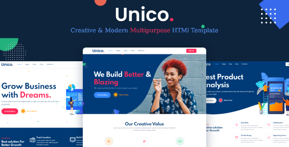 Unico - Multipurpose HTML Template