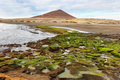 El Medano beach with red mountain at background, Tenerife, Canary Islands, Spain - PhotoDune Item for Sale