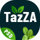 TazZA - Organic Food PSD Template - ThemeForest Item for Sale