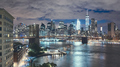 New York City seen from Brooklyn Dumbo at night, USA. - PhotoDune Item for Sale