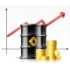 Oil Barrel Price Rises Chart and Black Metal Oil - GraphicRiver Item for Sale