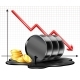 Oil Barrel Price Falls Down Chart and Black Oil - GraphicRiver Item for Sale