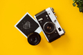 Top view of a vintage film camera. - PhotoDune Item for Sale