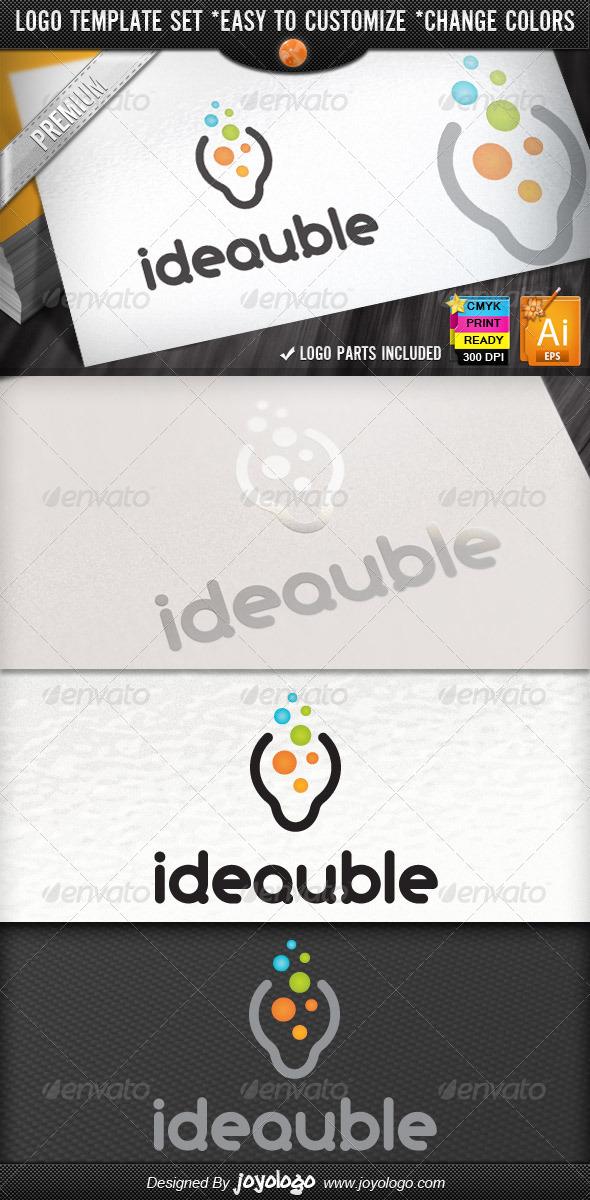 New Bright Think Bubbles Creative Idea Logo Design