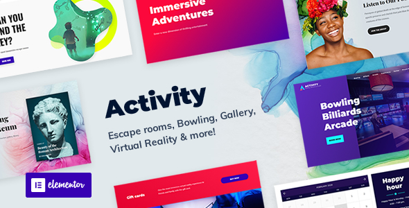 Activity – Booking WordPress Theme Preview