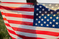 4th of July. American woman with the national American flag - PhotoDune Item for Sale