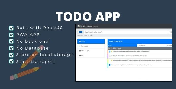 TODO App React JS (Local Storage)